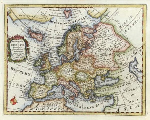 Ah the good old days: Antique Maps, Europe at the center of the world, no pesky social media.