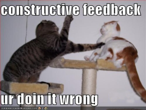 Constructive feedback?