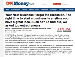 Your Next Business Forget the recession.